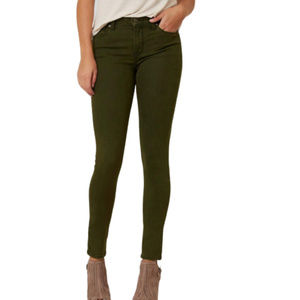 Just Black Army Green Skinny Stretch Jeans - 29